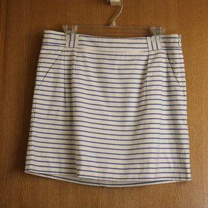 NWT The Limited Nautical Mini Skirt Blue White 10